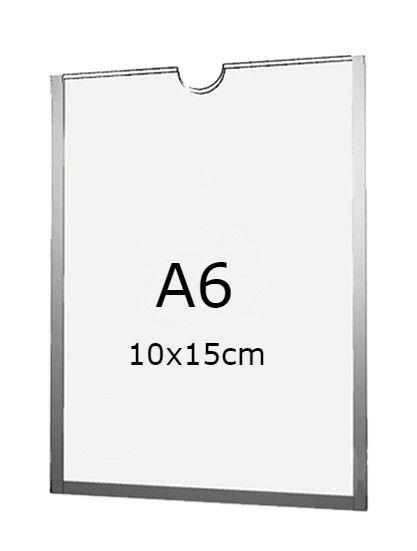 Display A6 de Acrílico para Parede com fundo (10x15cm)