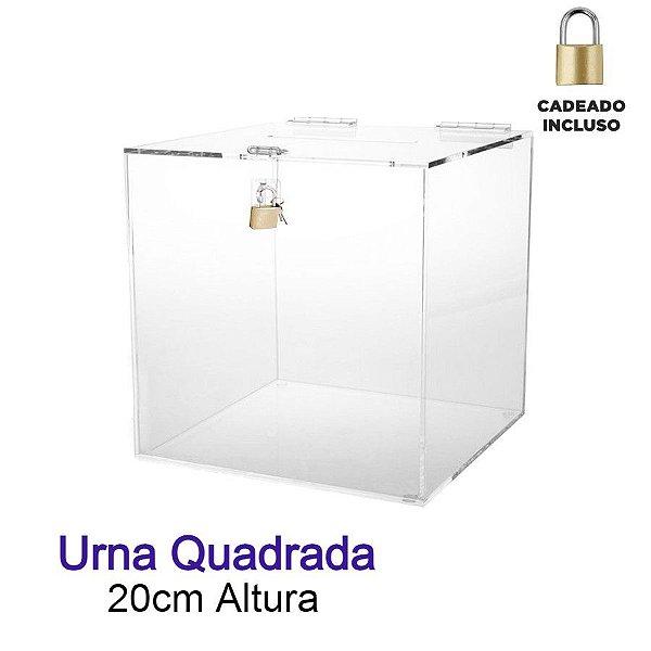 Urna de Acrílico Quadrada 20cmx20cm