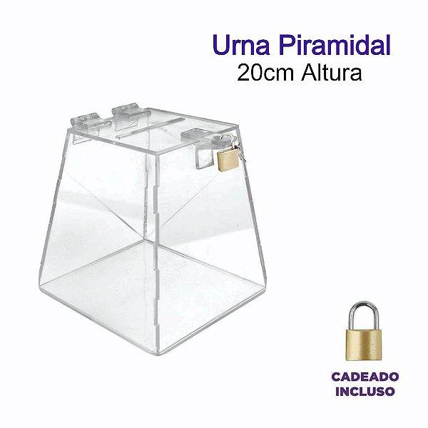 Urna de Acrílico Piramidal 20cm de altura