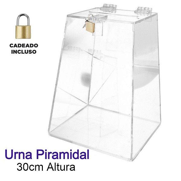 Urna de Acrílico Piramidal 30cm de Altura