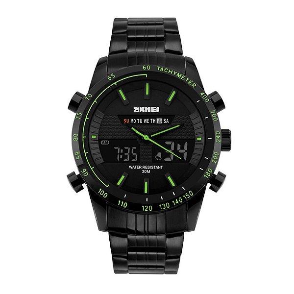 Relógio Masculino Skmei AnaDigi 1131 - Preto e Verde