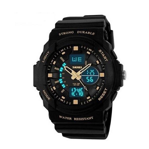 Relógio Masculino Skmei AnaDigi 1008 - Preto e Dourado