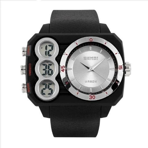 Relógio Masculino Skmei AnaDigi 1090 - Preto e Prata
