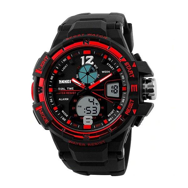 Relógio Masculino Skmei AnaDigi 1148 - Preto e Vermelho