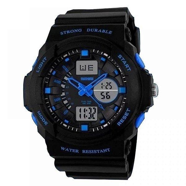 Relógio Masculino Skmei AnaDigi 0955 - Preto e Azul