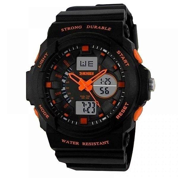 Relógio Masculino Skmei AnaDigi 0955 - Preto e Laranja