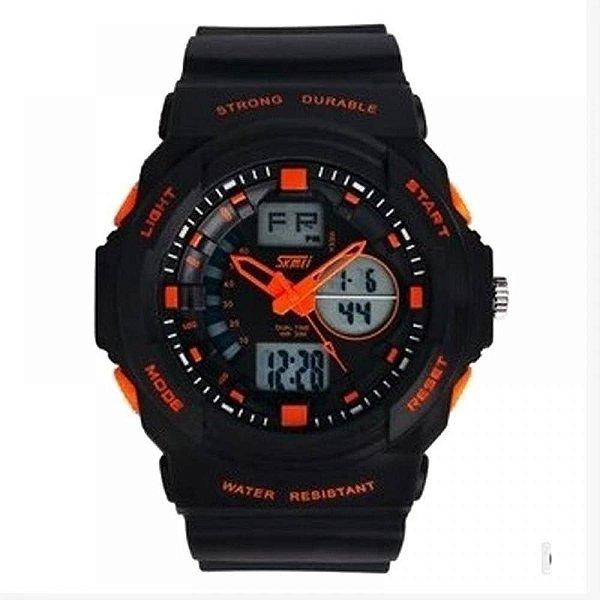 Relógio Masculino Skmei AnaDigi 1008 - Preto e Laranja