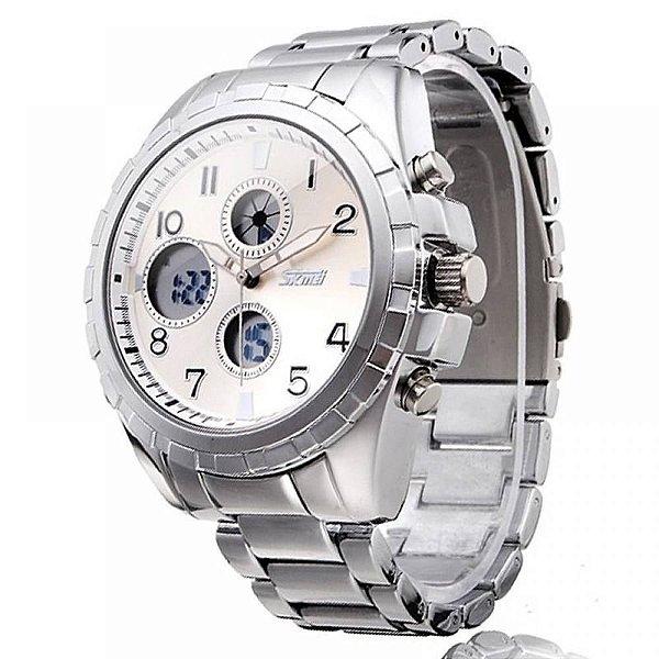 Relógio Masculino Skmei AnaDigi 1021 - Prata
