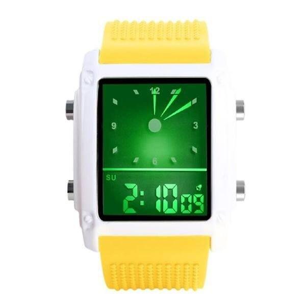 Relógio Masculino Skmei AnaDigi 0814G - Amarelo e Branco