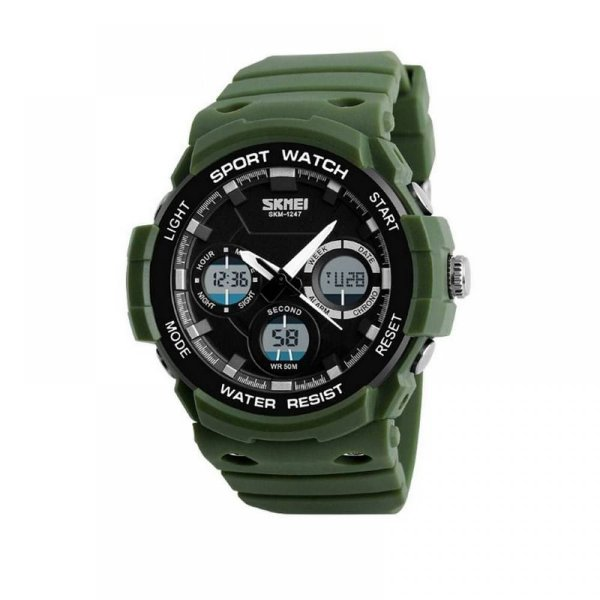 Relógio Masculino Skmei Anadigi 1247 Verde