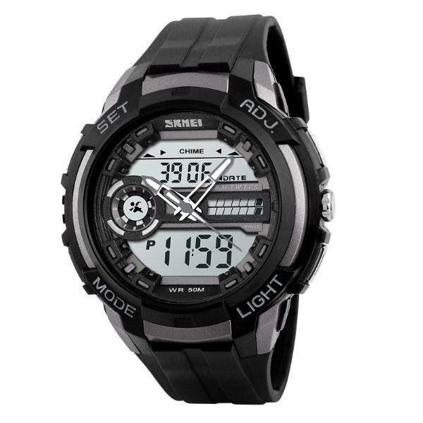 Relógio Masculino Skmei AnaDigi 1202 - Preto e Cinza