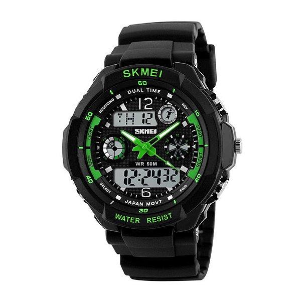 Relógio Masculino Skmei AnaDigi 1060 - Preto e Verde