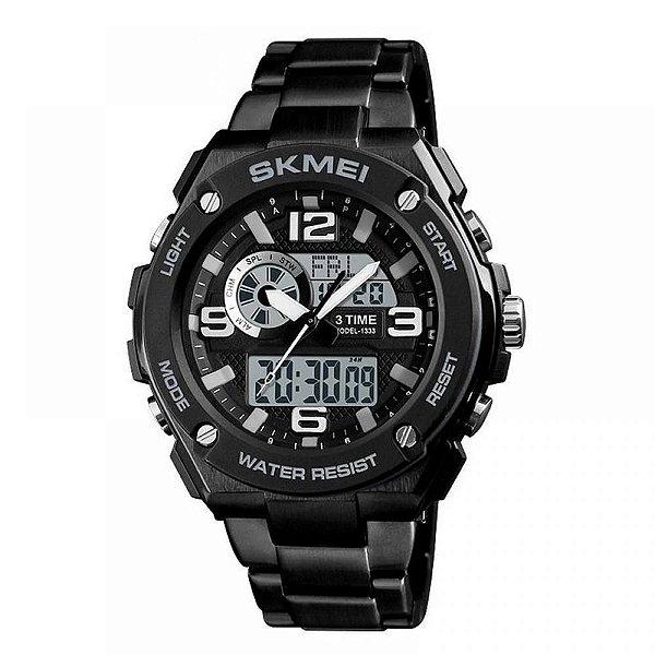 Relógio Masculino Skmei Anadigi 1333 Preto