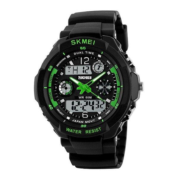Relógio Masculino Skmei AnaDigi 0931 - Preto e Verde