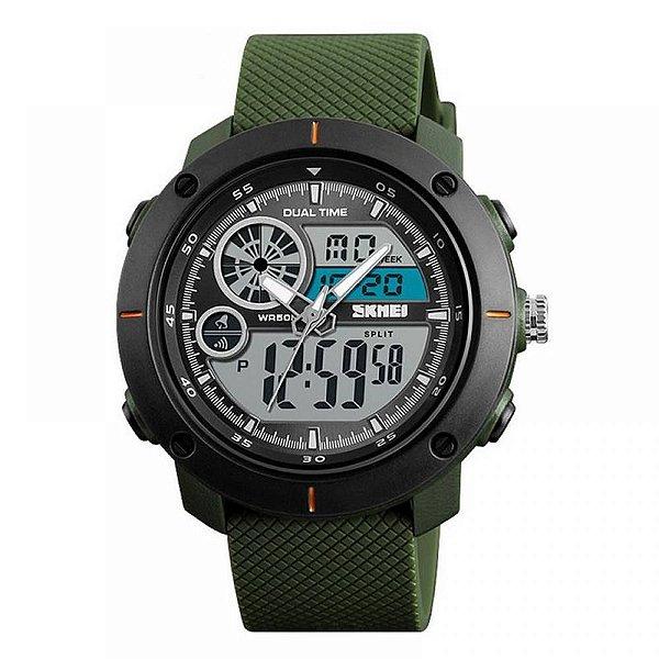 Relógio Masculino Skmei Anadigi 1361 Verde