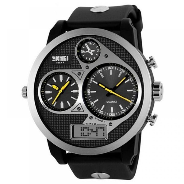 Relógio Masculino Skmei AnaDigi 1033 - Preto e Amarelo