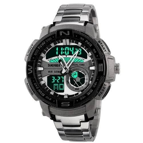 Relógio Masculino Skmei AnaDigi 1121 - Prata e Preto