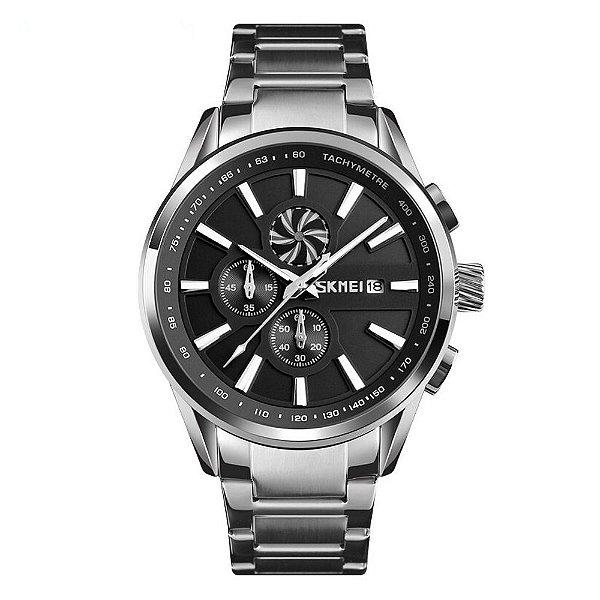 Relógio Masculino Skmei Analógico 9175 - Prata e Preto