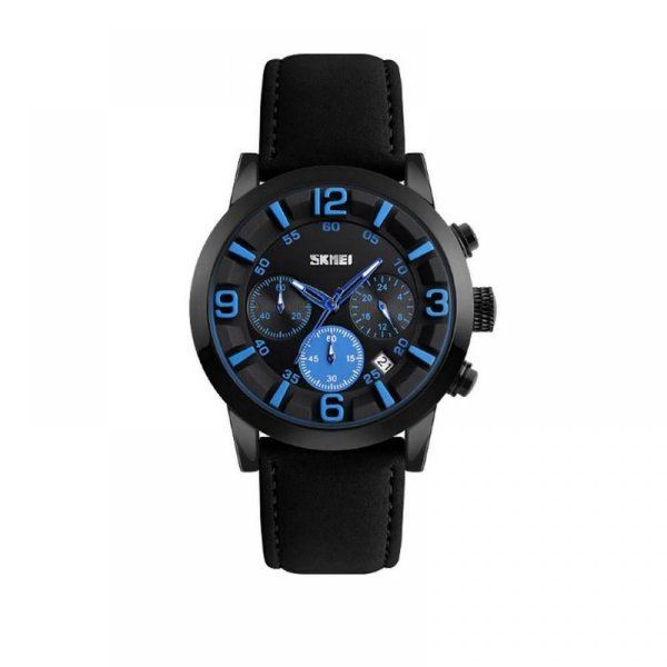 Relógio Masculino Skmei Analógico 9147 - Preto e Azul