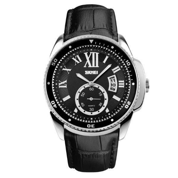 Relógio Masculino Skmei Analógico 1135 - Preto e Prata