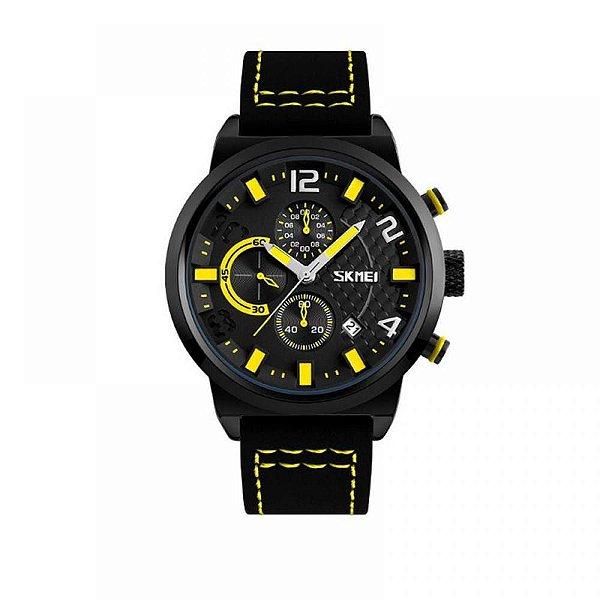 Relógio Masculino Skmei Analógico 9149 - Preto e Amarelo