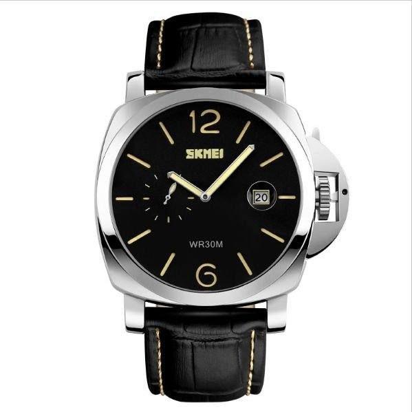 Relógio Masculino Skmei Analógico 1124 - Preto, Prata e Amarelo