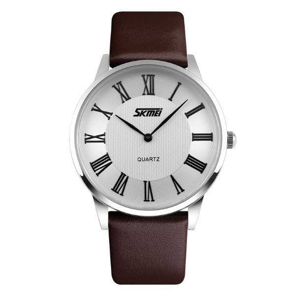 Relógio Masculino Skmei Analógico 9092 - Marrom e Prata