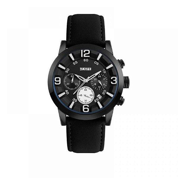 Relógio Masculino Skmei Analógico 9147 - Preto e Branco
