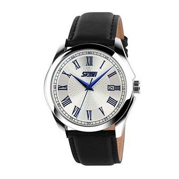 Relógio Masculino Skmei Analógico 9076 - Preto e Prata