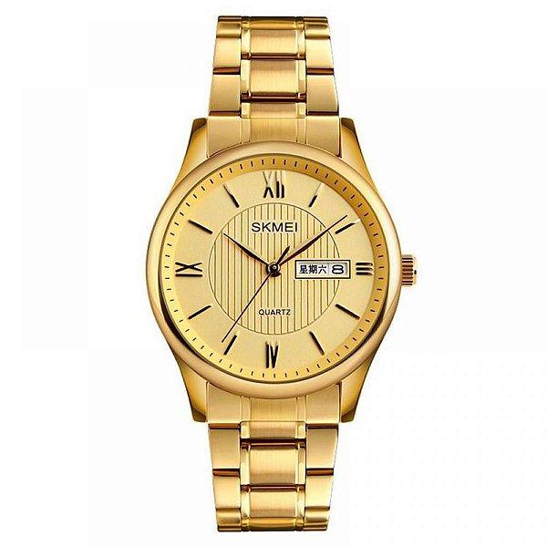 Relógio Masculino Skmei Analógico 1261 - Dourado