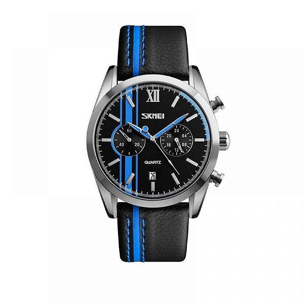 Relógio Masculino Skmei Analógico 9148 Azul