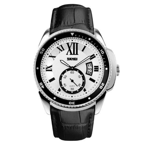 Relógio Masculino Skmei Analógico 1135 - Preto, Prata e Branco