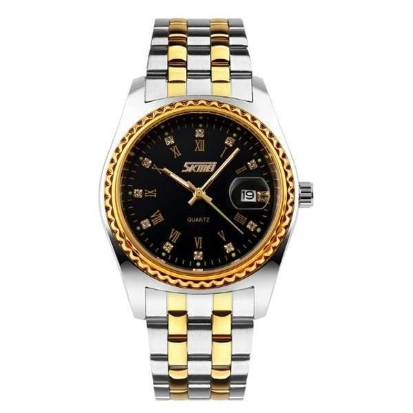 Relógio Masculino Skmei Analógico 9098 - Preto, Dourado e Preto