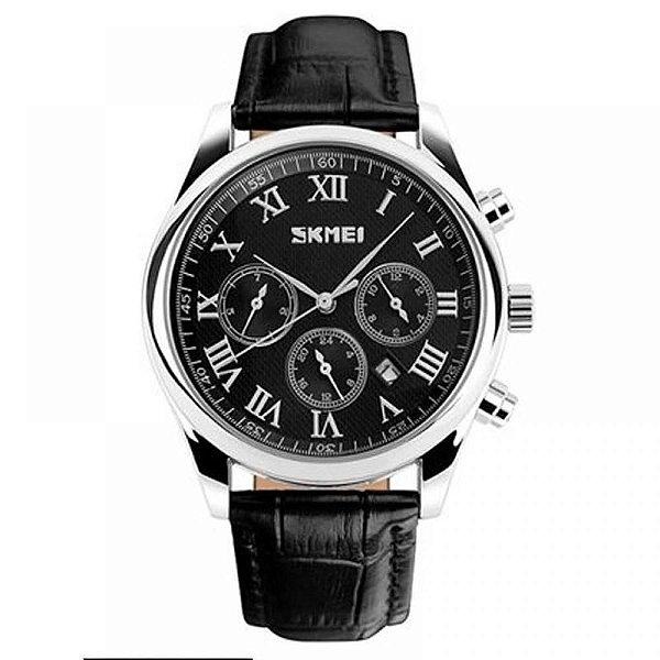Relógio Masculino Skmei Analógico 9078 - Preto