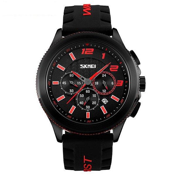 Relógio Masculino Skmei Analógico 9136 Vermelho