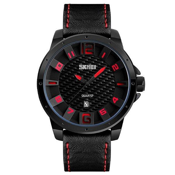 Relógio Masculino Skmei Analógico 9150 Vermelho