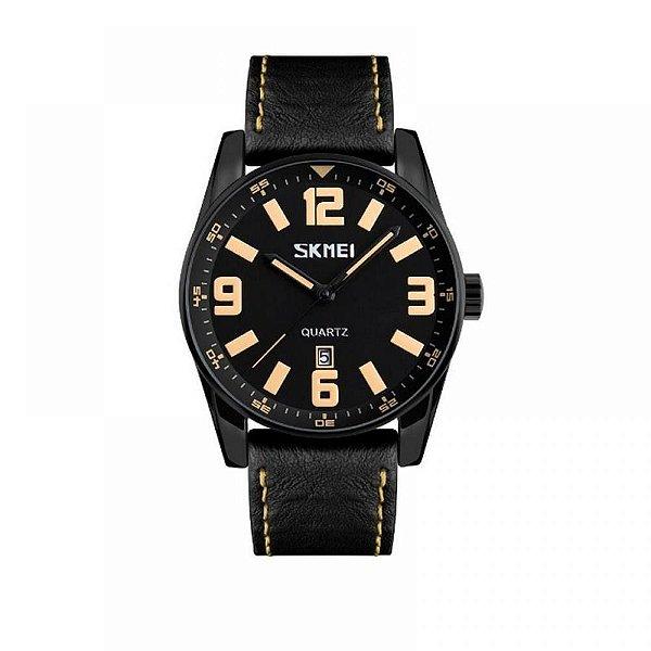Relógio Masculino Skmei Analógico 9137 - Preto e Bege