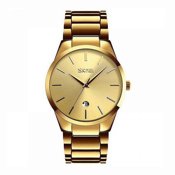 Relógio Masculino Skmei Analógico 9140 Dourado