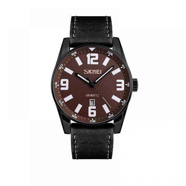 Relógio Masculino Skmei Analógico 9137 - Preto e Marrom