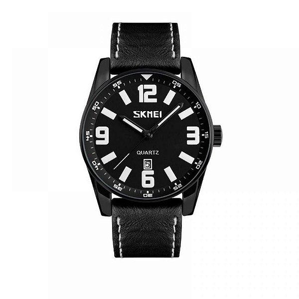 Relógio Masculino Skmei Analógico 9137 - Preto e Branco