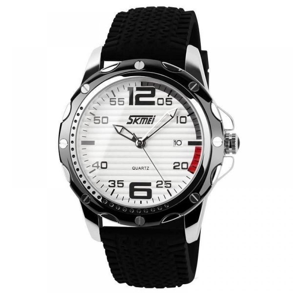 Relógio Masculino Skmei Analógico 0992 - Preto e Branco