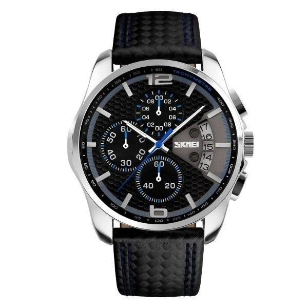 Relógio Masculino Skmei Analógico 9106 - Preto e Azul
