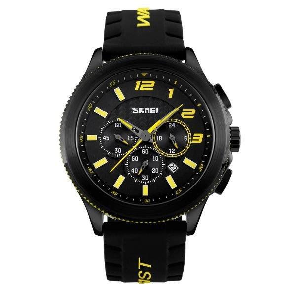 Relógio Masculino Skmei Analógico 9136 Amarelo