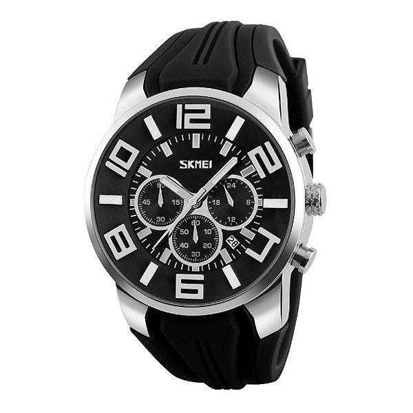 Relógio Masculino Skmei Analógico 9128 - Preto e Prata