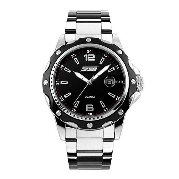 Relógio Masculino Skmei Analógico 0992 - Prata e Preto