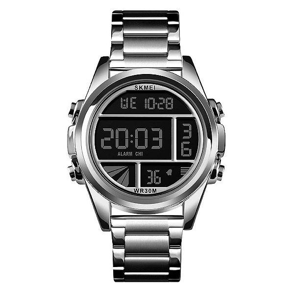 Relógio Masculino Skmei Digital 1448 - Prata e Preto