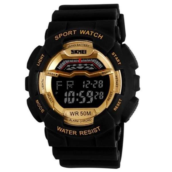 Relógio Masculino Skmei Digital 1012 - Preto e Dourado