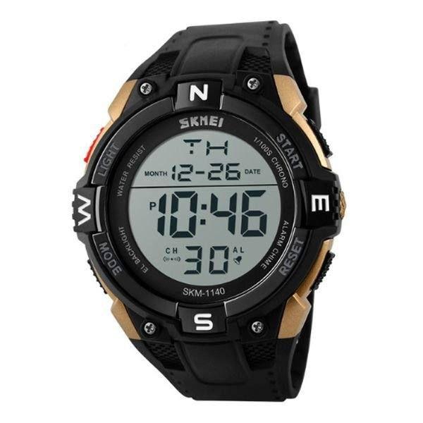 Relógio Masculino Skmei Digital 1140 - Preto e Dourado