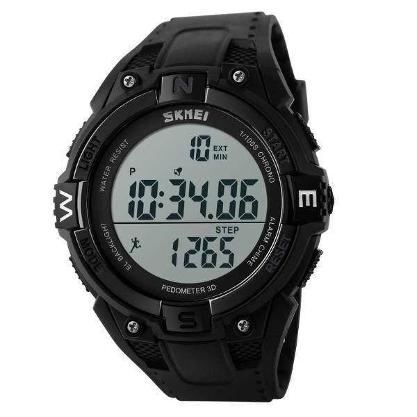 Relógio Pedômetro Masculino Skmei Digital 1141 - Preto