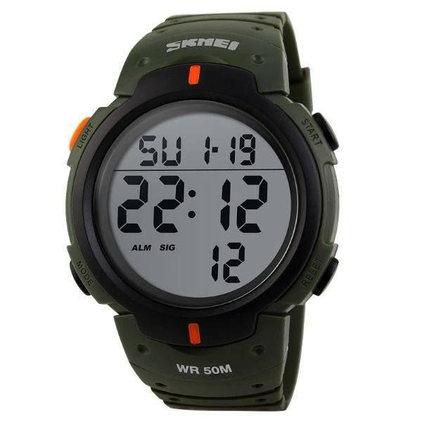 Relógio Masculino Skmei Digital 1068 - Verde e Preto